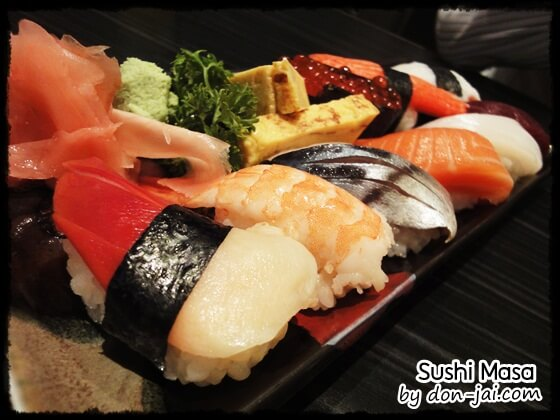 รีวิวโดนใจ >> Sushi Masa (ซูชิมาสะ) ร้านซูชิต้นตำรับจากญี่ปุ่น วัตถุดิบสดใหม่ ใกล้รถไฟฟ้าราชเทวี