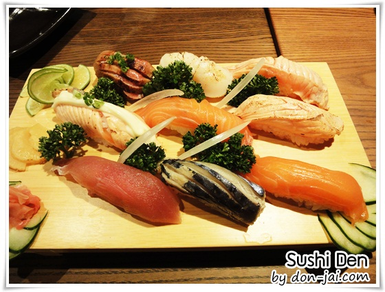 รีวิวโดนใจ >> SUSHI DEN (ซูชิ เด็น) ร้านซูชิ แบบสายพานหมุน ที่เซ็นทรัลลาดพร้าว