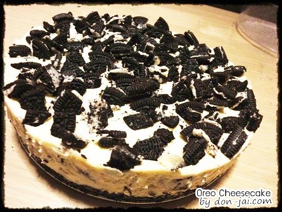 ของหวานโดนใจ >> โอรีโอชีสเค้ก ( No-Bake Oreo Cheesecake) ขนมแบบไม่อบ รสชาติอร่อยโดนใจ