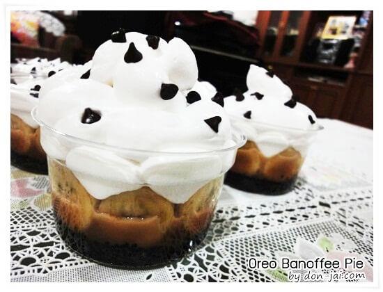 ของหวานโดนใจ >> โอริโอ้บานอฟฟี่พาย (Oreo Banoffee Pie) ขนมไม่อบแสนอร่อยและทำง่าย