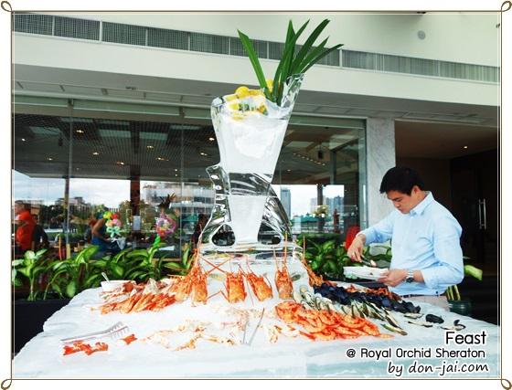 รีวิวโดนใจ >> ห้องอาหาร Feast กับสุดยอด Seafood Sunday Brunch ที่โรงแรม รอยัล ออคิด เชอราตัน