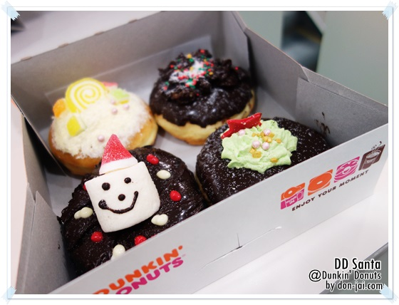 รีวิวโดนใจ >> ดีดีซานต้าเซ็ต จาก Dunkin' Donuts โดนัทสุดน่ารักต้อนรับเทศกาลคริสมาส