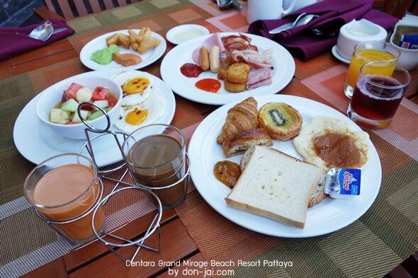 รีวิวโดนใจ >> Centara Grand Mirage Beach Resort Pattaya (ตอนที่ 4) : อาหารเช้าที่Oasis