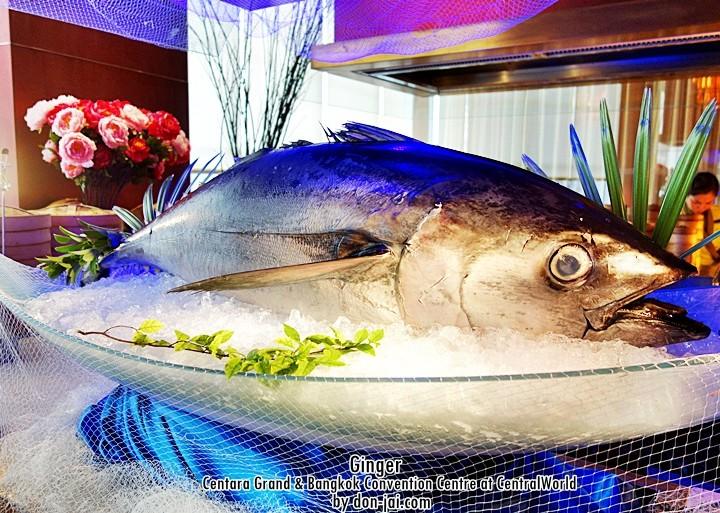 รีวิวโดนใจ >> บุฟเฟ่ต์อาหารทะเลสุดอลังการที่ห้องGinger โรงแรม Centara Grand at Central World