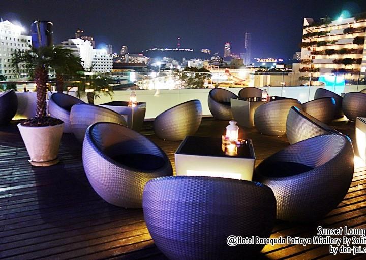 รีวิวโดนใจ >>Sunset Lounge - นั่งชิลล์บน Roof Top ชมวิวพระอาทิตย์ตกที่ Baraquda Pattaya